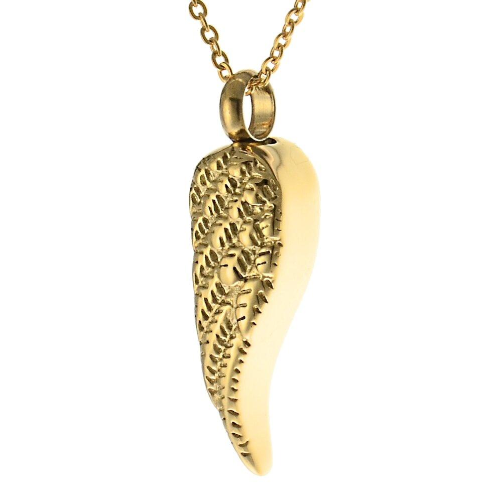 Farbe Aus Was: Asche Anhänger Aus Edelstahl Farbe Gold Als Flügel