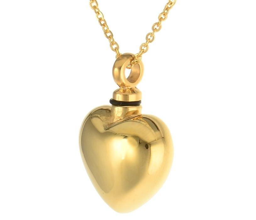 Farbe Aus Was: Charismatum® Asche Anhänger Herz In Der Farbe Gold Aus